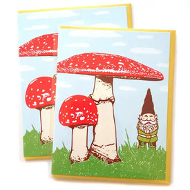 Little Lark Little Lark - Red Mushroom Greeting Card