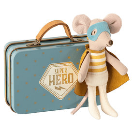 Maileg Maileg Mouse - Little Brother Superhero in Suitcase
