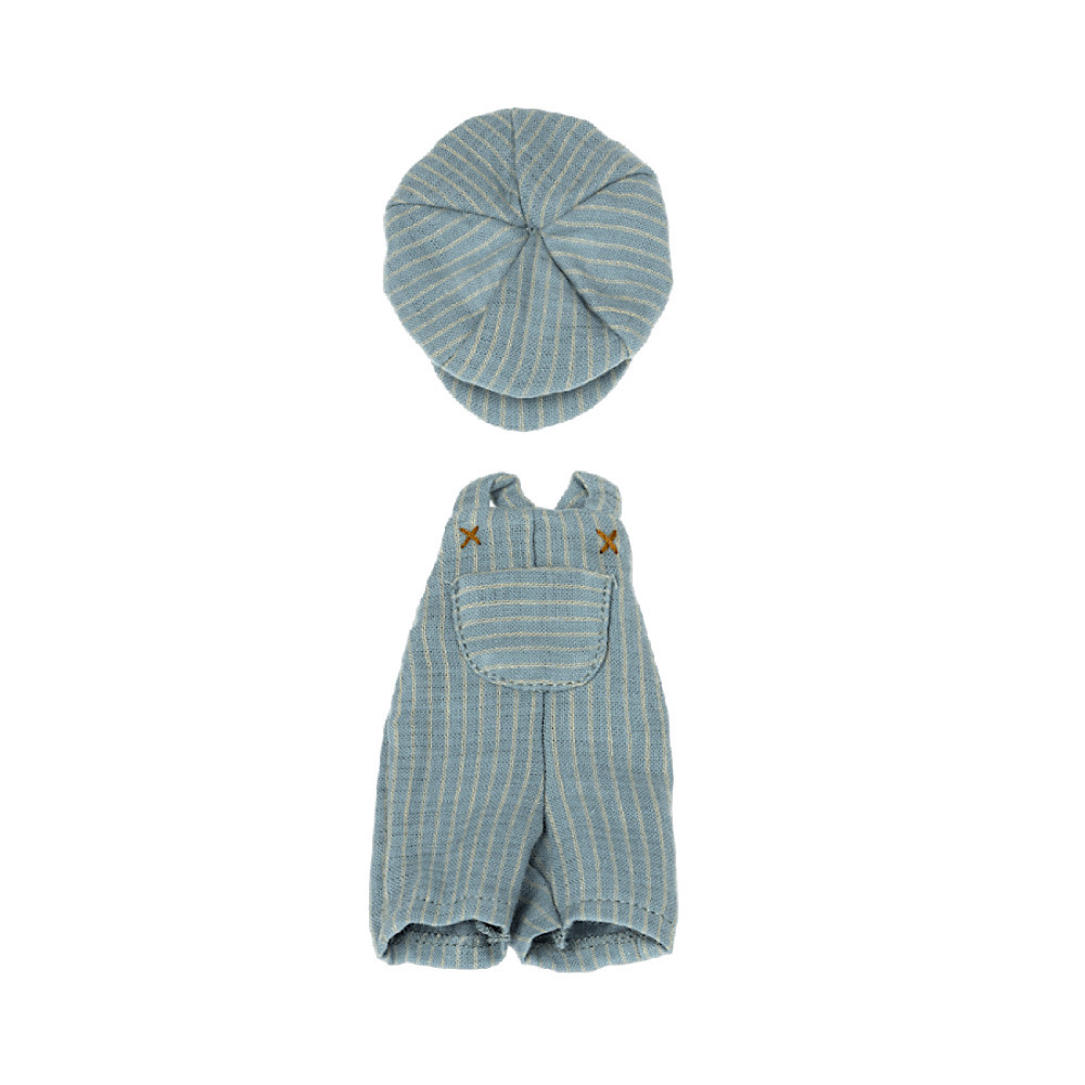Maileg Striped Overall and Cap for Teddy Junior