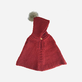 The Blueberry Hill The Blueberry Hill Poncho - Red