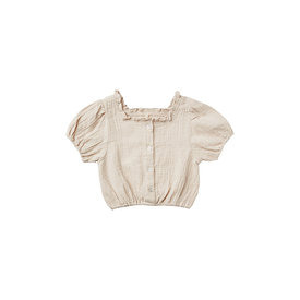Rylee + Cru Rylee + Cru Dylan Blouse Embroidered Daisy - Stone