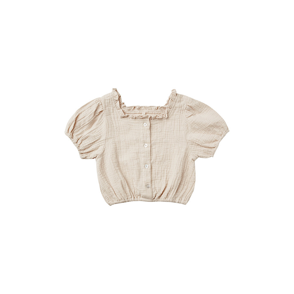 Rylee + Cru Dylan Blouse Embroidered Daisy - Stone
