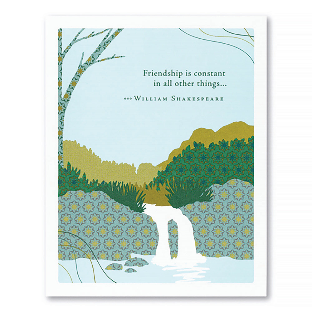Compendium Friendship Card - Friendship Is Constant