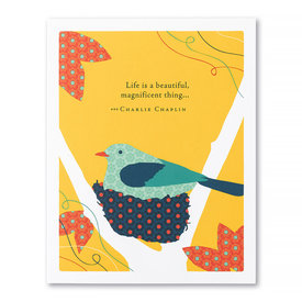 Compendium Baby Card - Life Is A Beautiful Magnificent Thing