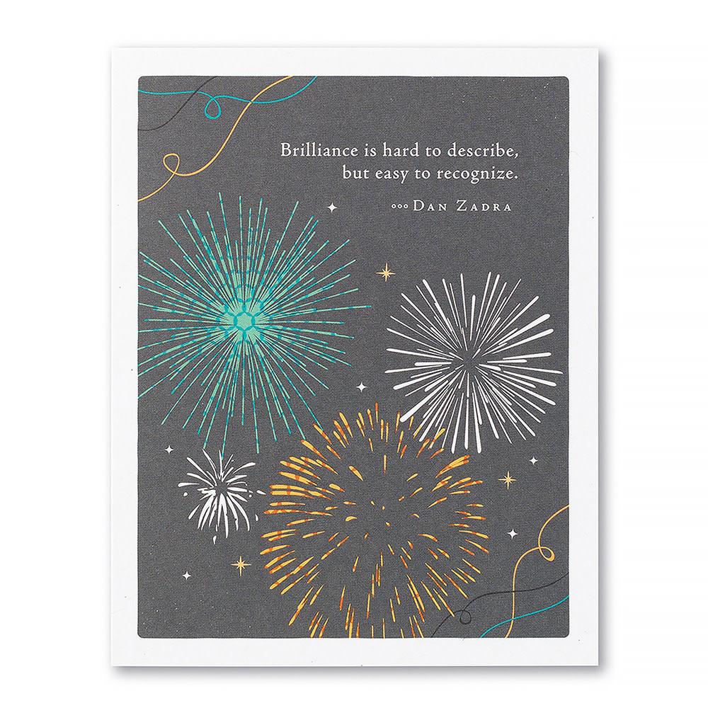 Compendium Congratulations Card - Brilliance Is Hard To Describe