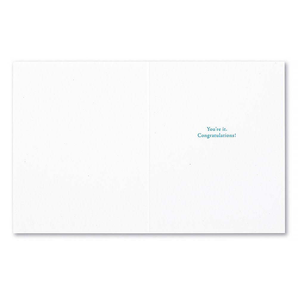 Congratulations Card - Brilliance Is Hard To Describe