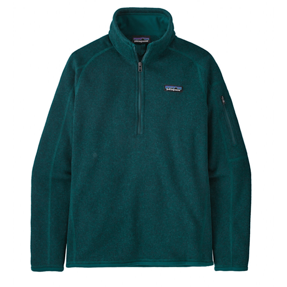 Patagonia Womens Better Sweater 1/4 Zip - Dark Borealis Green