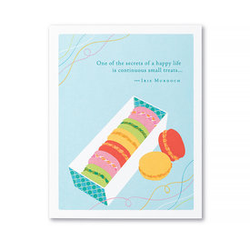 Compendium Birthday Card - One Of The Secrets Of A Happy Life