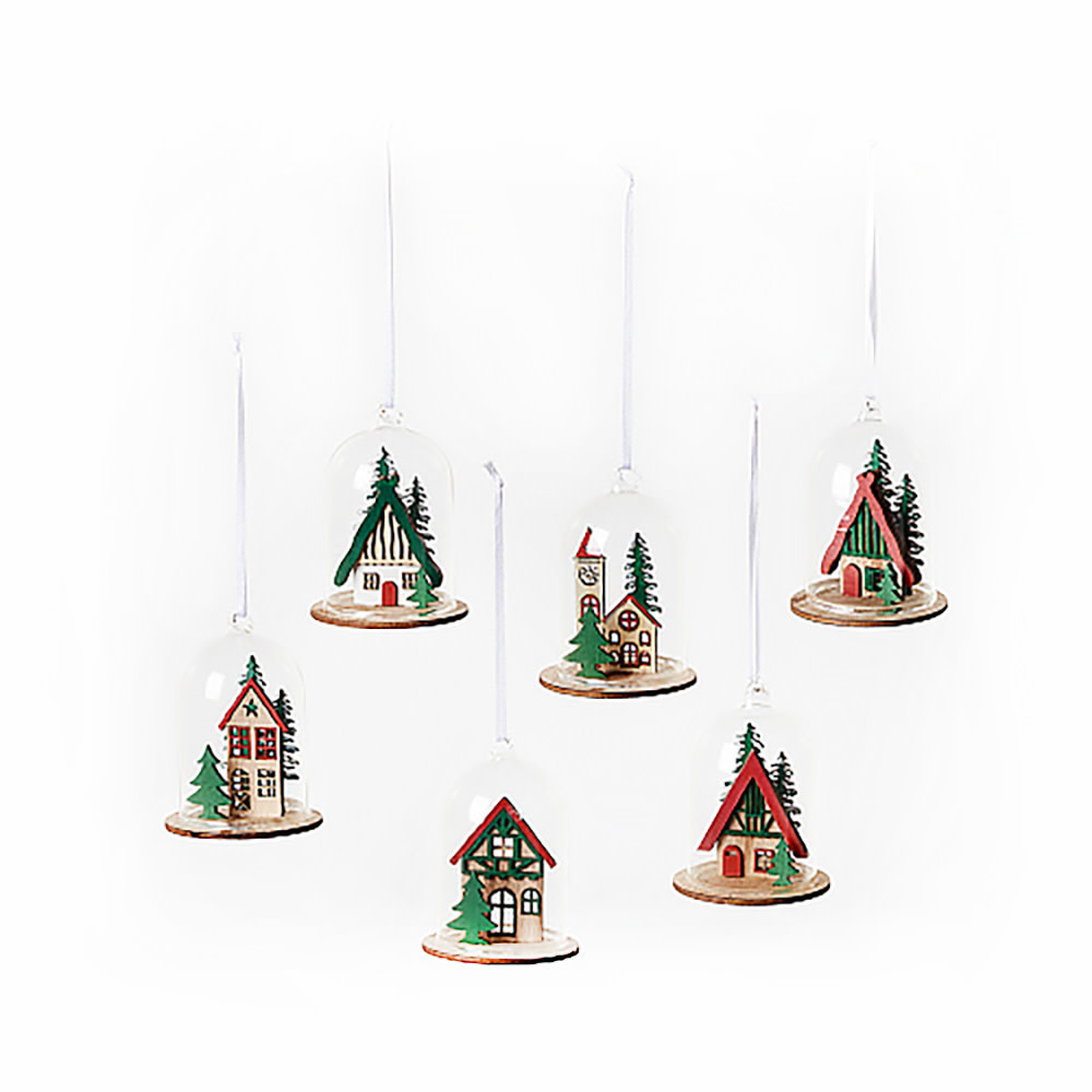 One Hundred 80 Degrees Bavarian Dome Ornament - Assorted