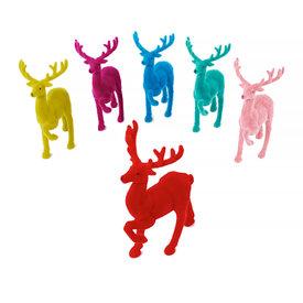 One Hundred 80 Degrees Flocked Deer - Assorted Colors