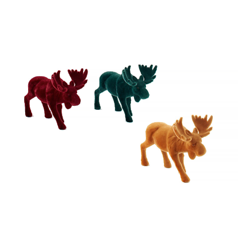 One Hundred 80 Degrees Flocked Moose - Assorted Colors