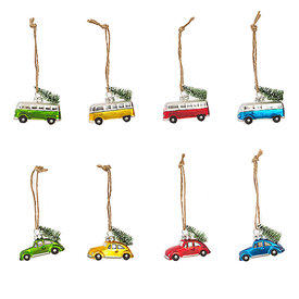 One Hundred 80 Degrees Mini Vehicle Glass Ornament - Assorted Colors