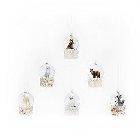 One Hundred 80 Degrees Woodland Animal Snow Globe Mini Ornament - Assorted