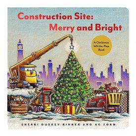 Usborne Lift The Flap Construction Site Merry & Bright