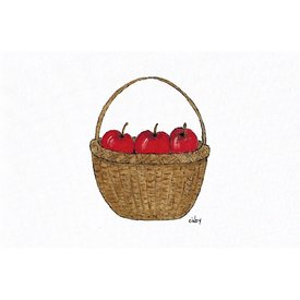 Cindy Shaughnessy Cindy Shaughnessy Greeting Card - Apples in Basket