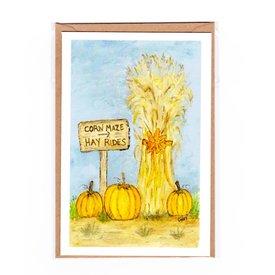 Cindy Shaughnessy Cindy Shaughnessy Greeting Card - Cornstalks