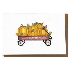 Cindy Shaughnessy Cindy Shaughnessy Greeting Card - Pumpkin Wagon