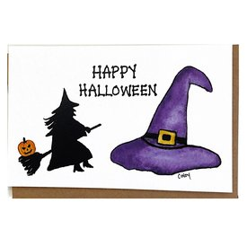 Cindy Shaughnessy Cindy Shaughnessy Greeting Card - Witch Halloween