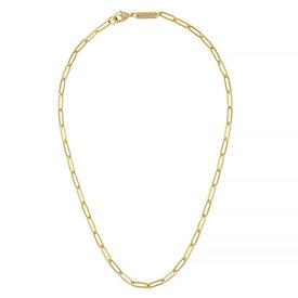 "Machete Machete - Petite Paperclip Chain Necklace - Gold 18"""