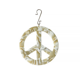 "Machete Machete - 3"" Peace Ornament - Ivory"