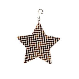 """Machete Machete - 4"""" Star Ornament - Tortoise Checker"""