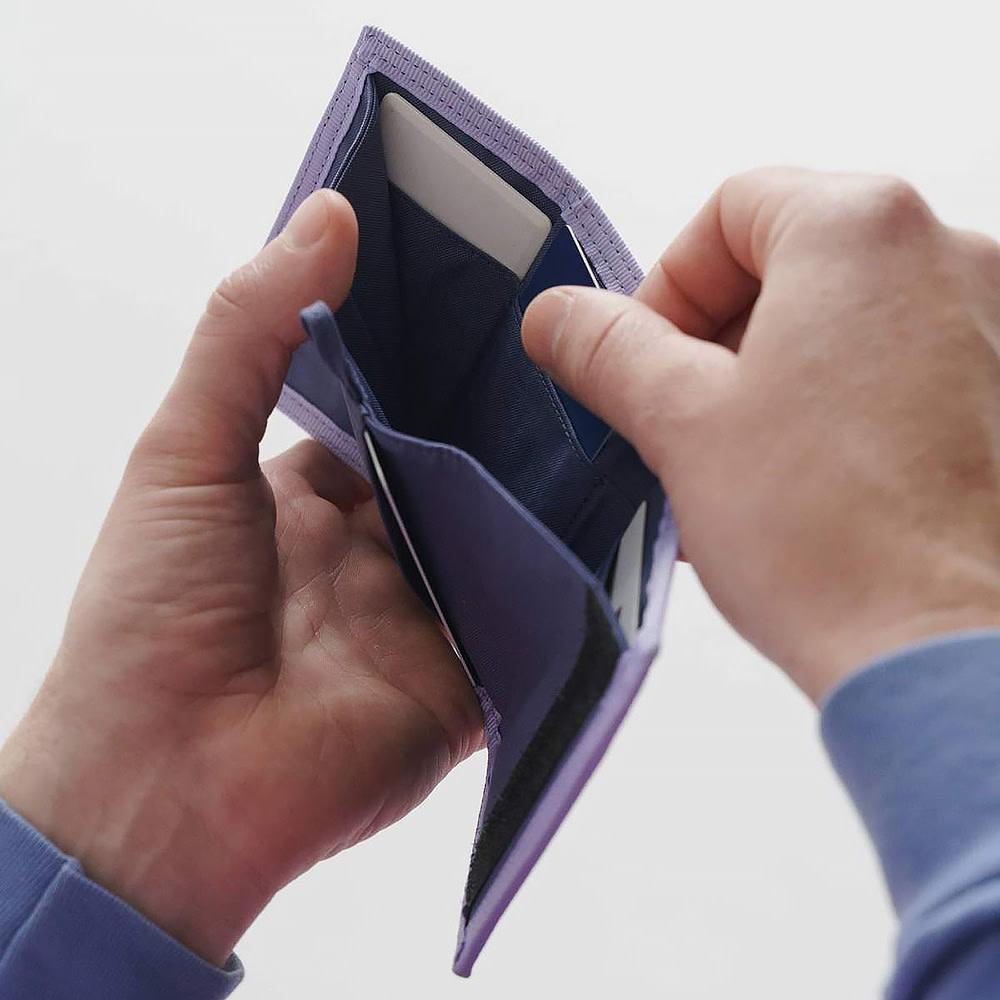 Baggu Nylon Wallet - Lavender Trippy Checker