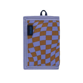Baggu Baggu Nylon Wallet - Lavender Trippy Checker