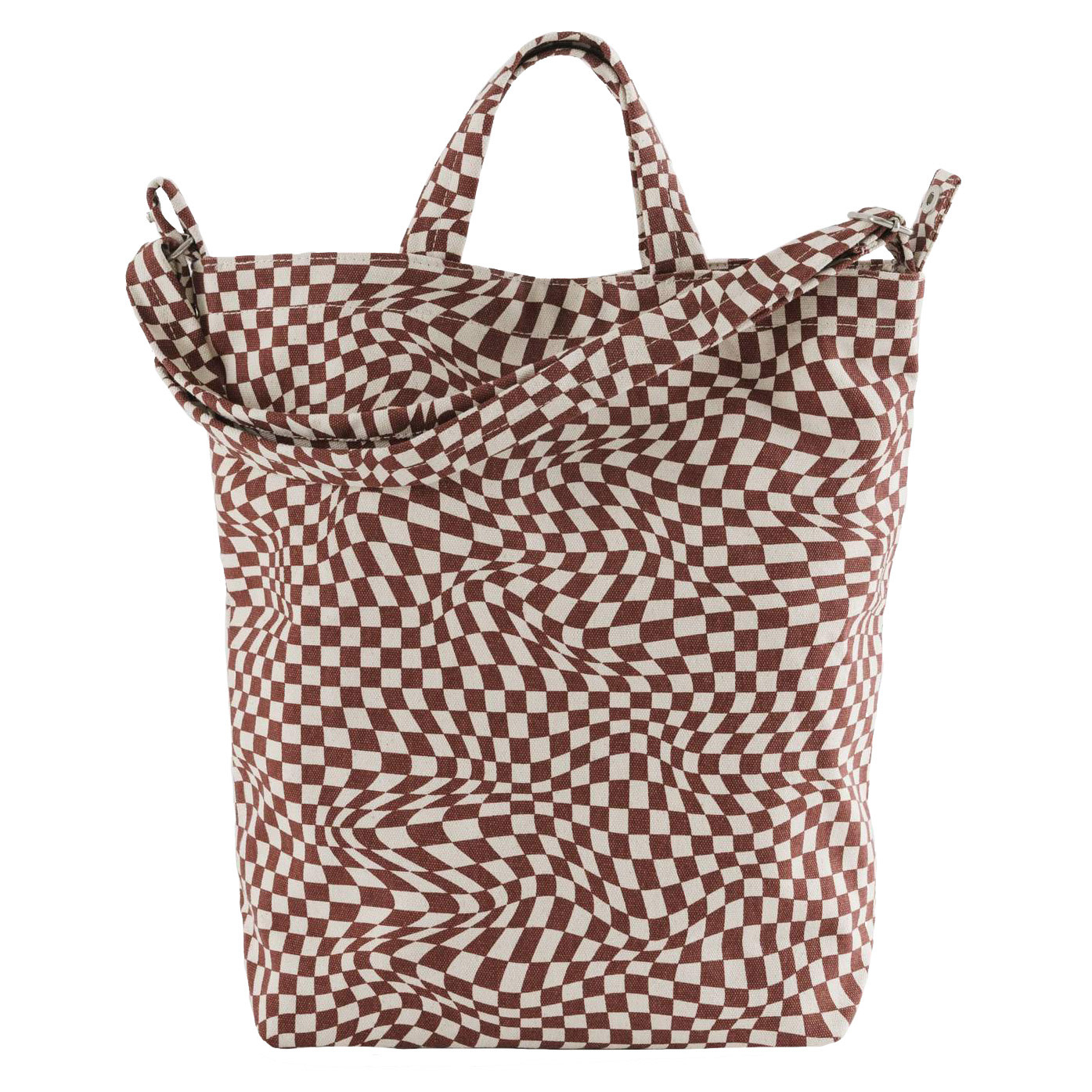 Baggu Baggu Duck Bag - Maroon Trippy Checker
