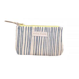 Erin Flett Erin Flett Card Wallet Pouch - Royal Skinny Stripe