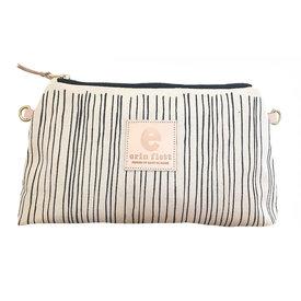 Erin Flett Erin Flett Jen Bag - Worn Black Skinny Stripe - Natural Zip