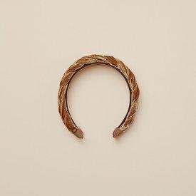 Noralee Noralee Velvet Braided Headband - Golden
