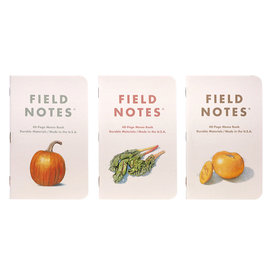 Field Notes Field Notes - Harvest Pack of 3 - Pik-a-Pie Pumpkin/Rainbow Chard/Mountain Gold Tomato