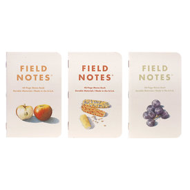 Field Notes Field Notes - Harvest Pack of 3 - Orleans Reinette Apples/ Striped Popcorn/ Concord Grapes