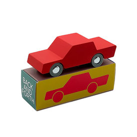 WaytoPlay Toys Wooden Toy Car Back & Forth - Red