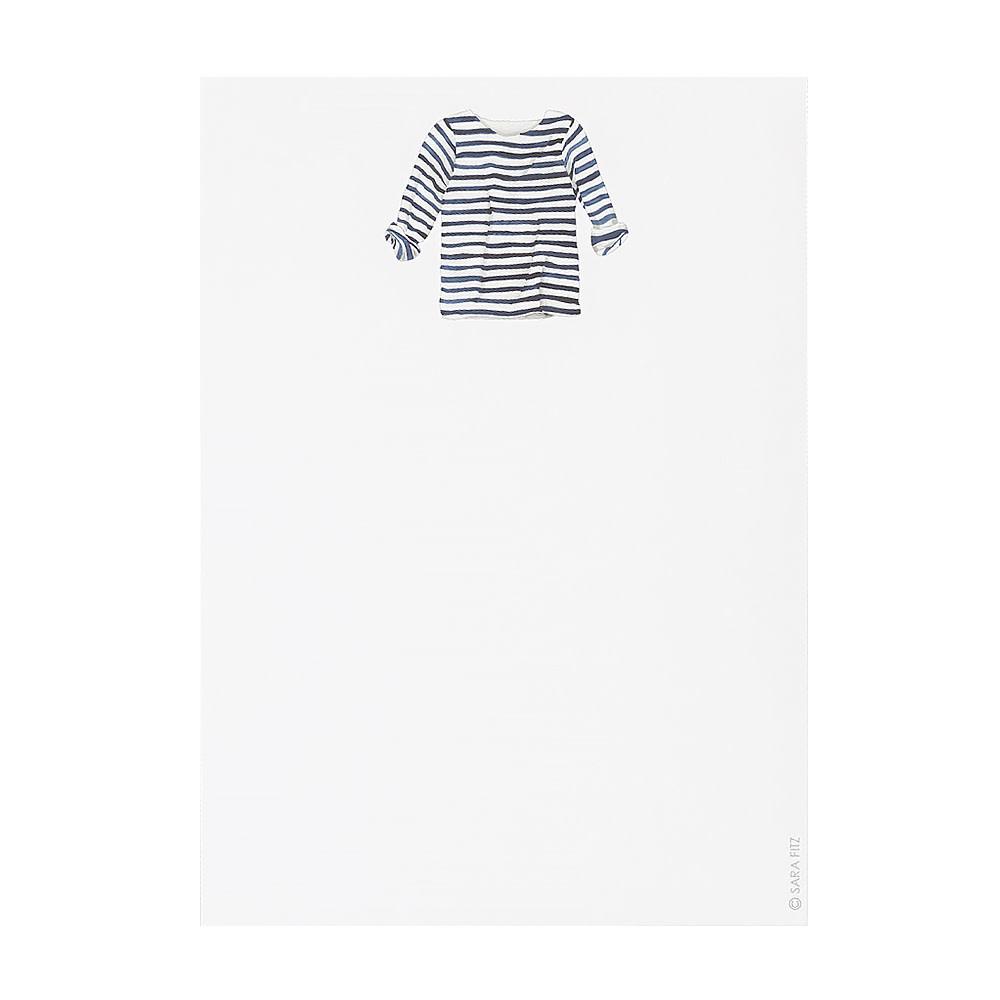 Sara Fitz Notepad - Striped Shirt