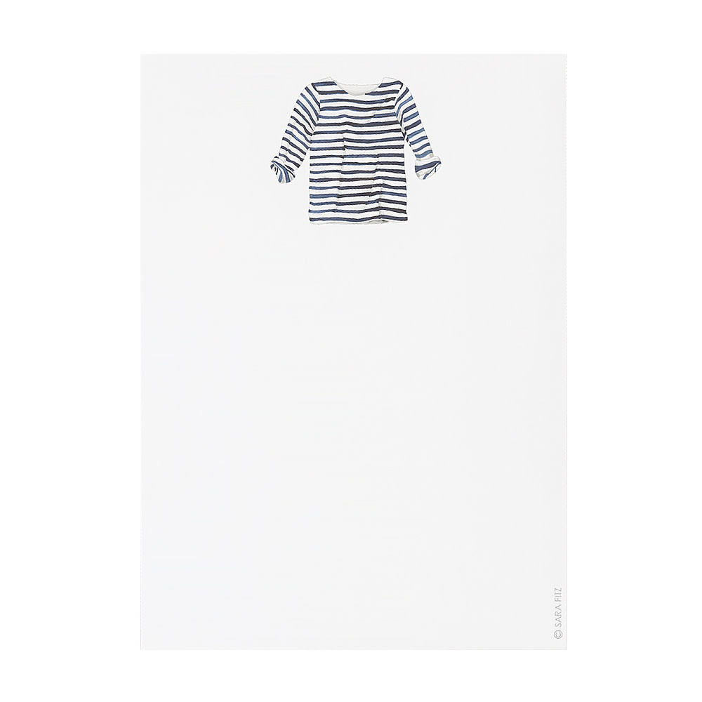 Sara Fitz Sara Fitz Notepad - Striped Shirt
