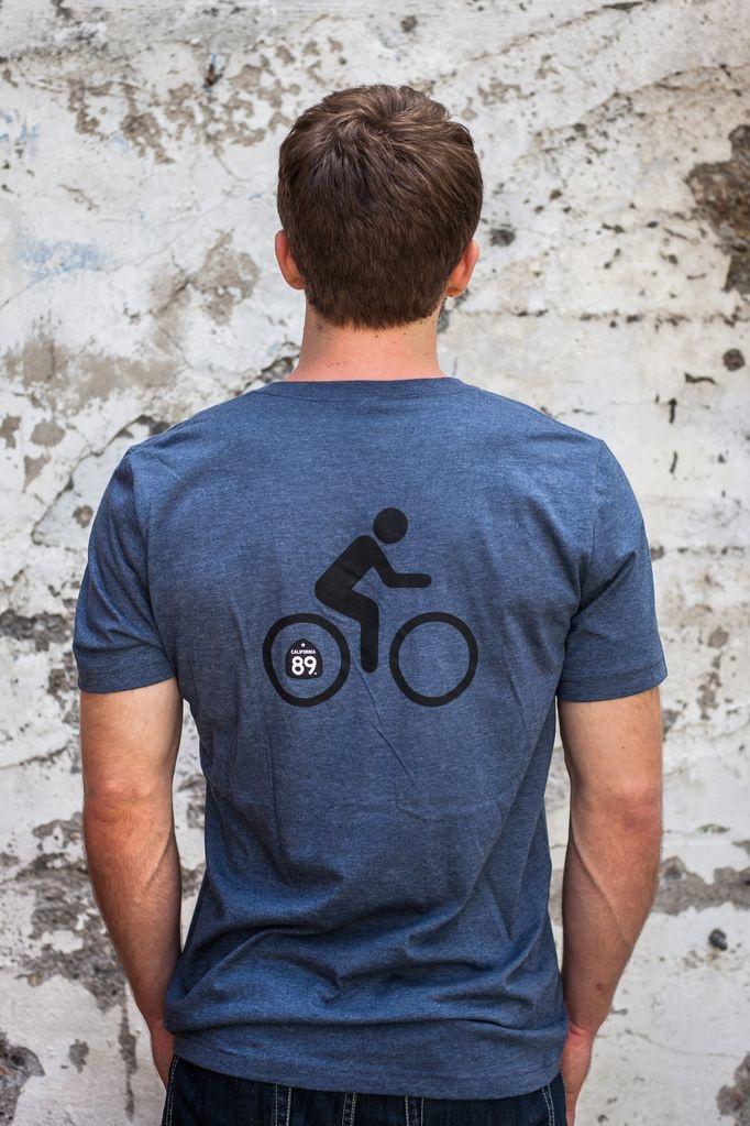 California 89 Men's Bicycle V-Neck Tee