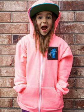 California 89 Kid's Love Blue Zip Hoodie