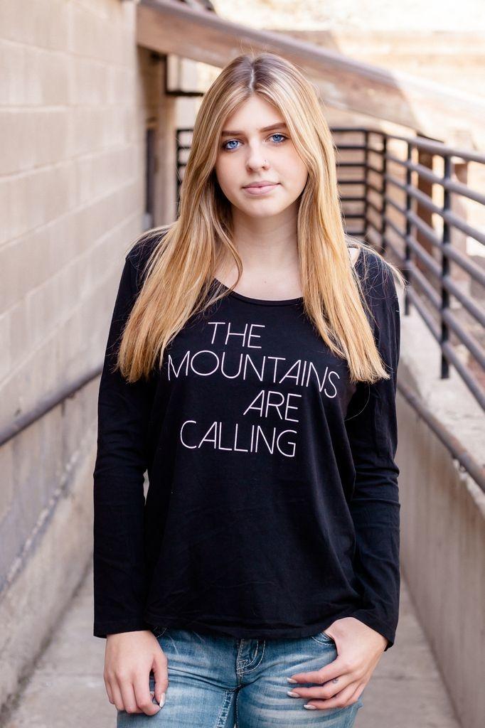 California 89 Women's Long Sleeve Mountains are Calling Tee