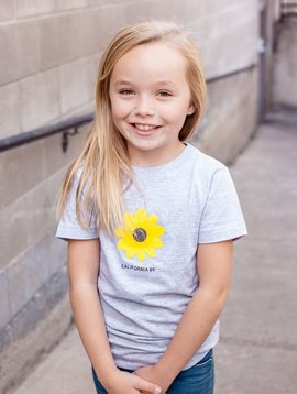 California 89 Girl's Sunflower Bike Tee