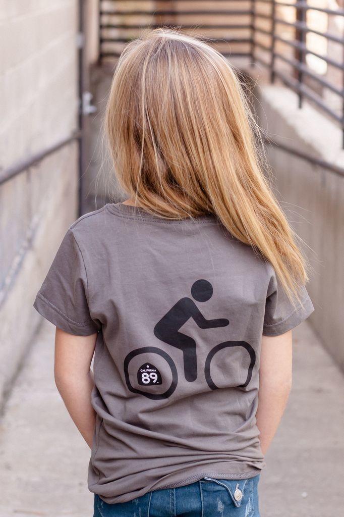 California 89 Girl's Sunflower Bike Tee