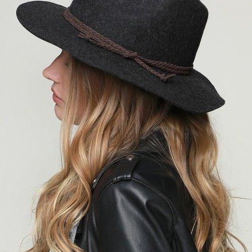 California 89 Urbanista Wool Felt Panama Hat with Suede Ribbon