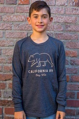 California 89 Kid's Long Sleeve Stay Wild Tee