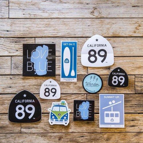 California 89 CA89 Sticker Pack