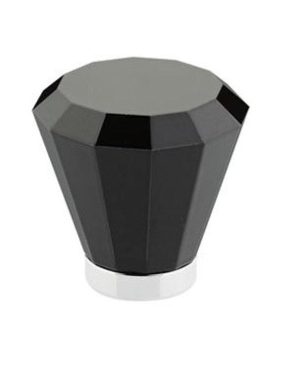 Brookmont Black Crystal Cabinet Knob