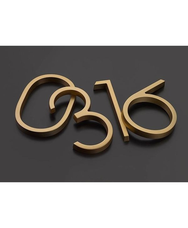 Modern Font House Numbers
