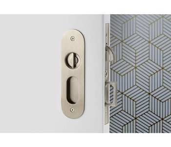 Oval Narrow Modern Privacy Pocket Door Set