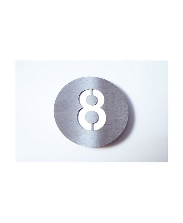 Radius House Numbers - White