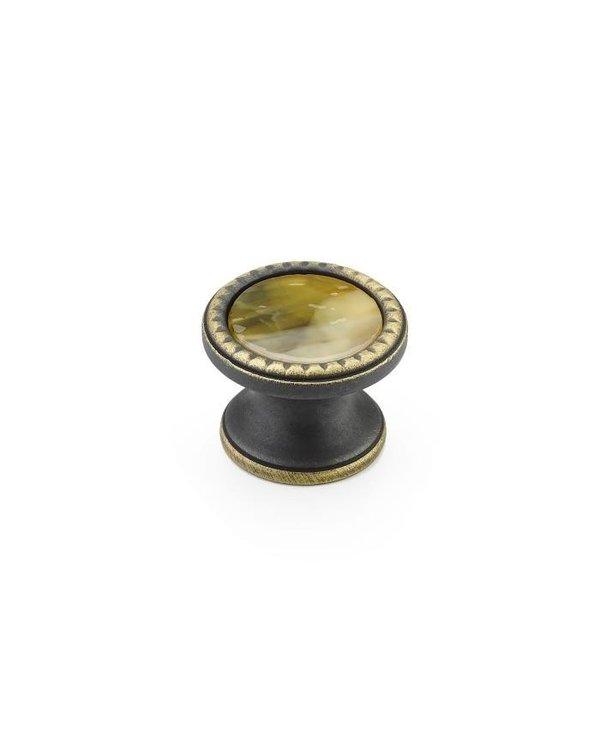 Kingsway Glass Inlay Round Knob