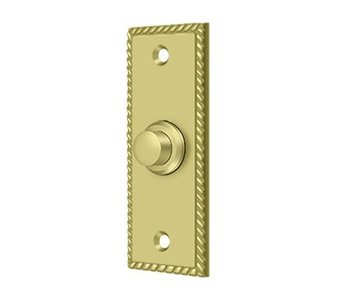 Traditional Rectangular Roped Bell Button